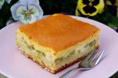 Rhabarber-Topfenkuchen mit Eierschecke