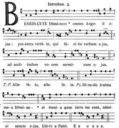 Gregorianischer Choral: SS. Angelorum Custodum: Introitus Benedicite Domin...