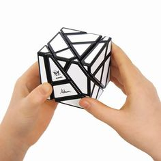NEW brainteaser cube! Intensely challenging and hauntingly addictive - Twist your visual-spatial skills into a new dimension of mind-numbing fun with the Ghost Cube. Take the Rubik's Cube and amplify the challenge! Mind Numbing, Brain Teaser Puzzles, Kinds Of Shapes, Cube Puzzle, Logic Puzzles, Brain Teasers, Cool Toys, Rubik's Cube, Brain Games