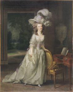 """Johann Friedrich August TISCHBEIN, """"Frédérique Louise Wilhelmine, Princesse d'Orange-Nassau""""           (Maastricht, 1750 – Heidelberg, 1812)  Frédérique Louise Wilhelmine, Princesse d'Orange-Nassau  1788"""