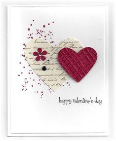 Scrappin' and Stampin' in GJ: cards - Geburtstagskarte Diy Valentine Love Cards, Valentine Crafts, Homemade Valentines Day Cards, Handmade Valentines Cards, Valentine Makeup, Valentine Party, Wedding Anniversary Cards, Happy Anniversary, Handmade Anniversary Cards