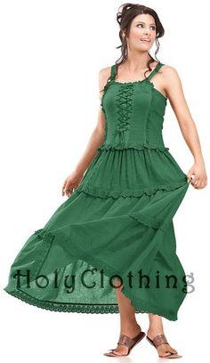 Ashlee Bohemain Ruffles Peasant Gypsy Cotton Corset Sun Dress - Dresses $47.99