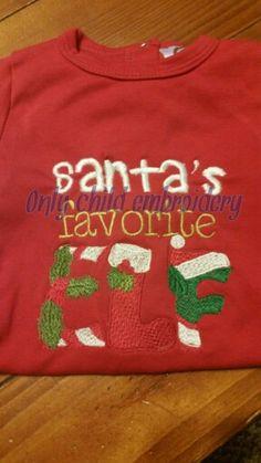 Santa design https://www.facebook.com/onlychildembroidery/