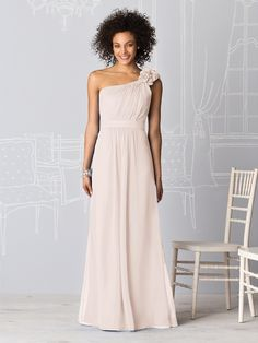 Shop After Six Bridesmaid Dress - 6611 in Lux Chiffon at Weddington Way. Find the perfect made-to-order bridesmaid dresses for your bridal party in your favorite color, style and fabric at Weddington Way.