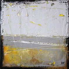 "Grey Abstract Landscape I - 10"" x 10""                  Kris Prunitsch"