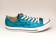 dd2fb773e Peacock Blue Starlight Sequin Converse® Low Top Sneakers