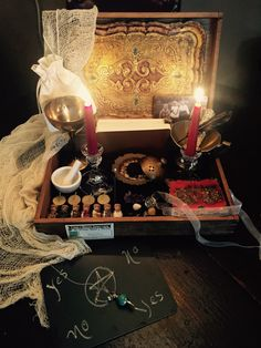 A personal favorite from my Etsy shop https://www.etsy.com/listing/465432814/mabon-autumn-equinox-witch-box-altar