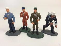 Interesting commemorative figures released by Wm Britains in 2000. Collaboration to honor the original #GIJoe figures. These are  Pewter   54m Soldier Set 4 Action Sailor SP New #Hasbro