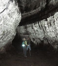 Ape Caves, the south side of Mount St. Helen's, Washington. The longest continuous lava tubes in the U.S.