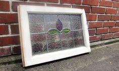 イギリスのアンティーク窓枠 ステンドグラス仕様