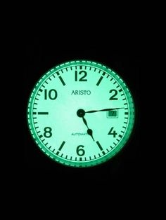 Aristo 3H17R automatic watch with a fully luminous dial, Swiss automatic movement, nylon NATO strap, date window, and sandblasted stainless steel case