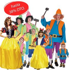 Disney Characters, Fictional Characters, Snow White, Disney Princess, Carnival, Dwarf Costume, Group Costumes, Female Dwarf, Snow White Pictures