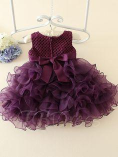 Bowknot Tiered Zipper-Up Flower Girl Dress - m.tbdress.com