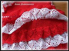 Robe rouge et blanche avec ses grilles gratuites !