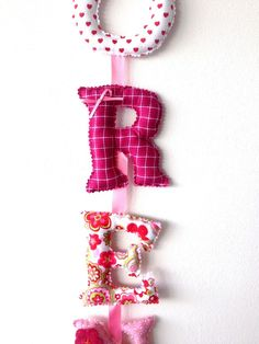 Decorations – Fabric letters, Customized Name Banner Nursery – a unique product by CielFlora on DaWanda