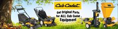Get OEM Cub Cadet parts for all Cub Cadet lawn tractors, garden tractors, riding mowers, zero-turn mowers, walk-behind mowers, snowthrowers, snow blowers, chainsaws, pole saws, tillers, utility vehicles, trimmers, log splitters, chippers, shredders, blowers and more.