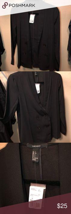 Forever 21 black blazer/ coat Black forever 21 blazer/ coat. Never worn, new with tags! Make an offer 😊 Forever 21 Jackets & Coats Blazers