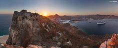 Atardecer sobre el Cerro del Vigia en C.S.L. México
