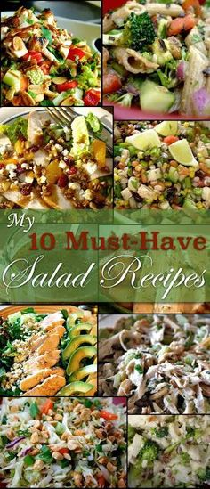 Looking for some healthy salad recipes that taste amazing? These are all the best! - pinned over 2,000 times