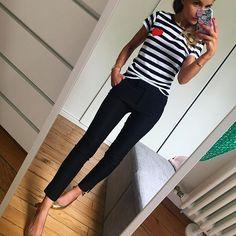 O O T D ❤️ #outfit#dailylook#dailypost#dailyoutfit#instalook#instafashion#fashionpost#fashiondiares#fashionblogger#wiwt#picoftheday teeshirt#faubourg54 pantalon#mango chaussures#balzacparis