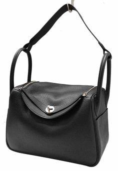 66155e2df52c Hermes Black Clemence Leather 2016 Lindy 30 Tote Shoulder Bag Tory Burch Bag