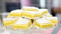 Elizabeth Chambers' Lemon Squares.  Use Earth Balance for butter.