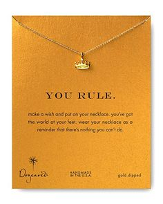 Dogeared You Rule Necklace, | Bloomingdale's