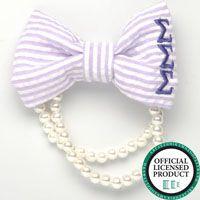 Sigma Sigma Sigma, Azarhia Seersucker and Pearl Bracelet. Looks so cute as a single or in a stack!