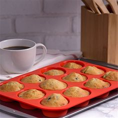 12 Cup Silicone MINI Muffin Cupcake Baking Pan Non Stick Dishwasher Microwave Safe. Muffins/Cupcakes release easily from pan by pressing on the base and popping them out. Each Cup Size: x Features. Fondant Cupcakes, Baking Cupcakes, Cupcake Cookies, Muffin Cupcake, Chocolate Muffins, Chocolate Molds, Cake Chocolate, Cake Baking Tins, Baking Pan