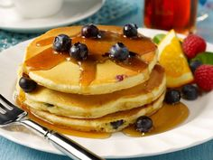 Blueberry Pancakes (made with Silk Almond Milk) Top Recipes, Dairy Free Recipes, Recipies, Almond Milk Recipes, Blueberry Pancakes, Vegan Blueberry, Tasty, Yummy Food, Recipe Details