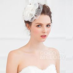 Elegant Ivory Wedding Flowers Wedding Headpieces HP15027 #cocomelody