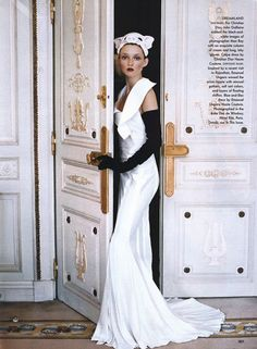 Audrey Marnay in Ravishing Couture by Arthur Elgort, Vogue, March 1999.