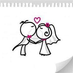 dibujos infantiles de casamiento para tarjetas - Buscar con Google