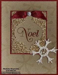 2-for-1 Glimmer Ornament Card 2 by Michelerey - Cards and Paper Crafts at Splitcoaststampers