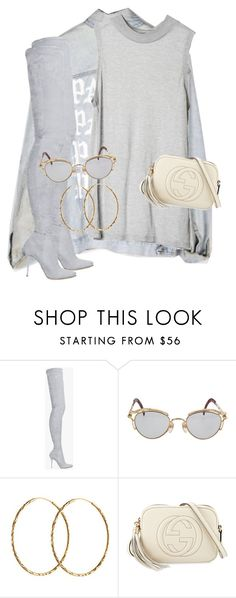 """""""Untitled #3585"""" by xirix ❤ liked on Polyvore featuring Balmain, Cheap Monday, Jean-Paul Gaultier, Pernille Corydon and Gucci"""