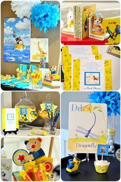 Golden Books baby shower + free printables