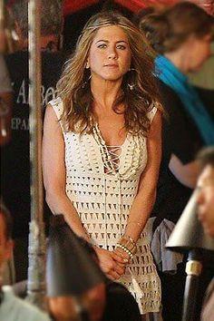 "Cossalina - Crochet Bikini and Swimwear, Handmade Crochet Dresses, Tops and Skirts.: Crocheted Dress - Jennifer Aniston in ""Just Go with It"" - FINISHED!"