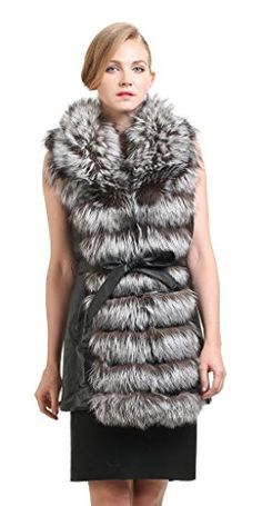 Vogueearth Women'Real Silver Fox Fur Sheep Leather Winter Gilet Vest  http://www.yearofstyle.com/vogueearth-womenreal-silver-fox-fur-sheep-leather-winter-gilet-vest/