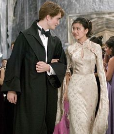 Cedric Diggory and Cho Chang at the Yule Ball (Harry Potter and the Goblet of Fire)