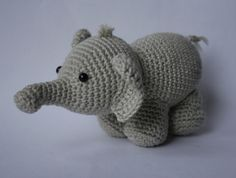 Free pattern. adorable little amigurumi elephant! I would love it if someone made a couple of these for,the baby's mobile!