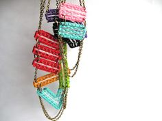Unique Macrame Necklaces Multicolored