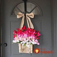 Spring wreath, Easter wreaths for front door wreaths decorations red pink tulips Spring wreath Tulip wreath Mother's day wreaths Mothers Day Wreath, Valentine Day Wreaths, Easter Wreaths, Pink Wreath, Tulip Wreath, Wreaths For Front Door, Door Wreaths, Front Porch, Tulip Colors
