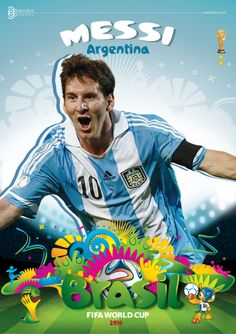Messi - Argentina, Brazil World Cup 2014 God Of Football, National Football Teams, World Football, Brazil World Cup, World Cup Russia 2018, World Cup 2014, Messi World Cup, Fifa World Cup, Cristiano Ronaldo