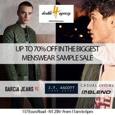 Double H Agency Menswear Sample Sale -- London -- 20/10-30/11
