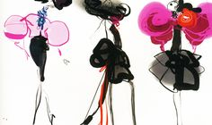 fashion designer Christian Lacroix's illustrations