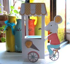 Flowerdisco's Scrap Hut: DIMENSIONAL PAPER CRAFTING...mouse cart svg