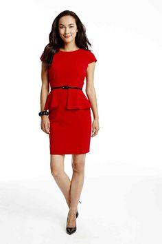 Worthington peplum dress