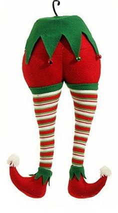 """RAZ Imports - Peppermint Toy - 20"""" Christmas Elf Christmas Tree Ornament All Colors (Both Ornaments)"""