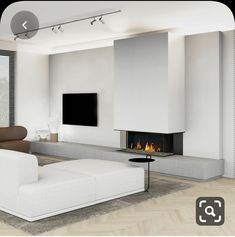 Architecture,Interior Design,Visual Effects Living Room Decor Fireplace, Living Room Tv Unit, Home Fireplace, Modern Fireplace, Home Living Room, Living Room Designs, Contemporary Fireplace Designs, Home Interior Design, House