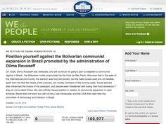 Petição à Casa Branca quer ação contra 'expansão comunista' operada por Dilma - Disso Você Sabia ?